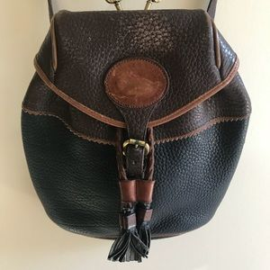 Vintage Dooney and Bourke Pebbled Leather Backpack